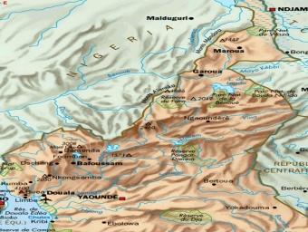 Carte des réserves naturelles du Cameroun