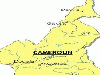 Carte des cours d'eaux du Cameroun
